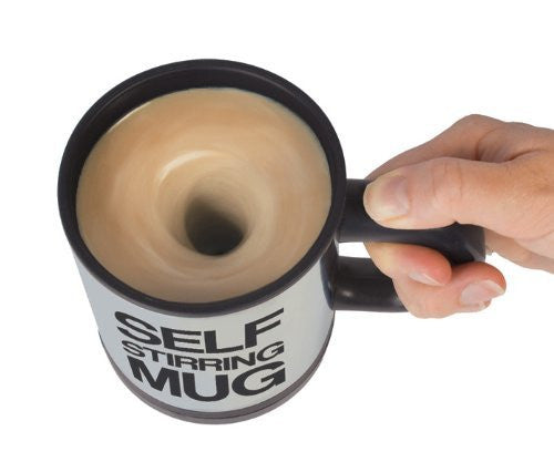 LOCOMOLIFE Self Stirring Mug Office Coffee Tea Cup Mix Mixing Stir Gag Gift