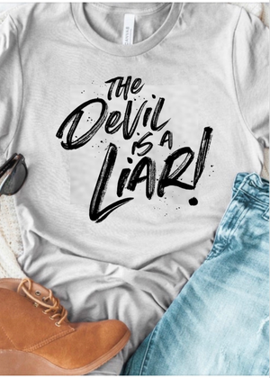 The Devil is a Liar T-shirt - Clothed in Grace