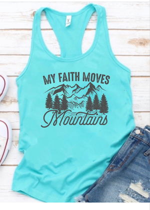 My Faith Moves Mountains-TANK TOP - Clothed in Grace