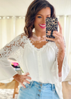 White Crochet Lace Top - Clothed in Grace