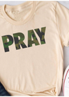 Camo Pray T-shirt - Clothed in Grace