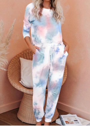 Cotton candy dreams- tie dye jogger set - Clothed in Grace