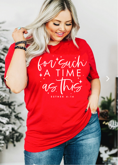For Such a time as this - plus size - Clothed in Grace