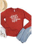 Jesus and Pumpkin Spice Long sleeve - Clothed in Grace