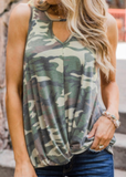 Camo Twist Top - Clothed in Grace
