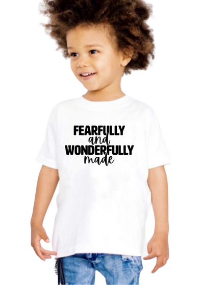 Fearfully and Wonderfully~Kids tee - Clothed in Grace