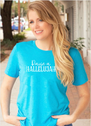 Raise a hallelujah Tee - Clothed in Grace
