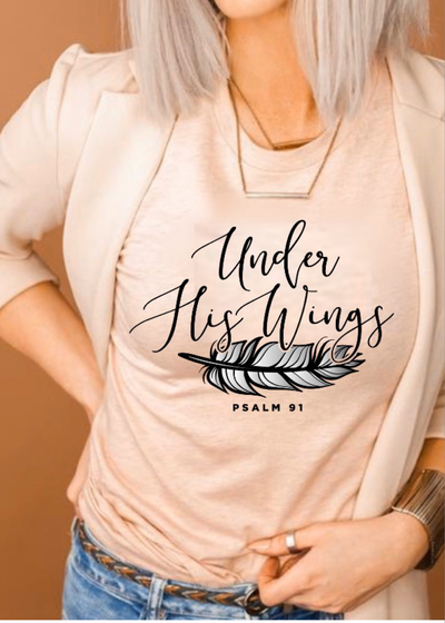 Under His Wings tee - Clothed in Grace