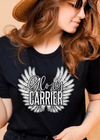 Glory Carrier tee -Black - Clothed in Grace