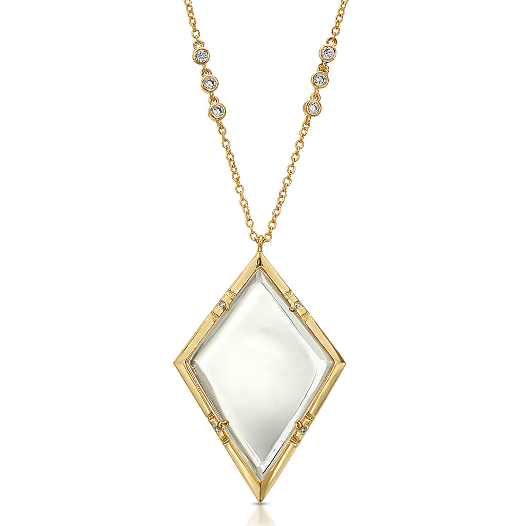 Emmeline Gold - Magnifier Pendant Necklace