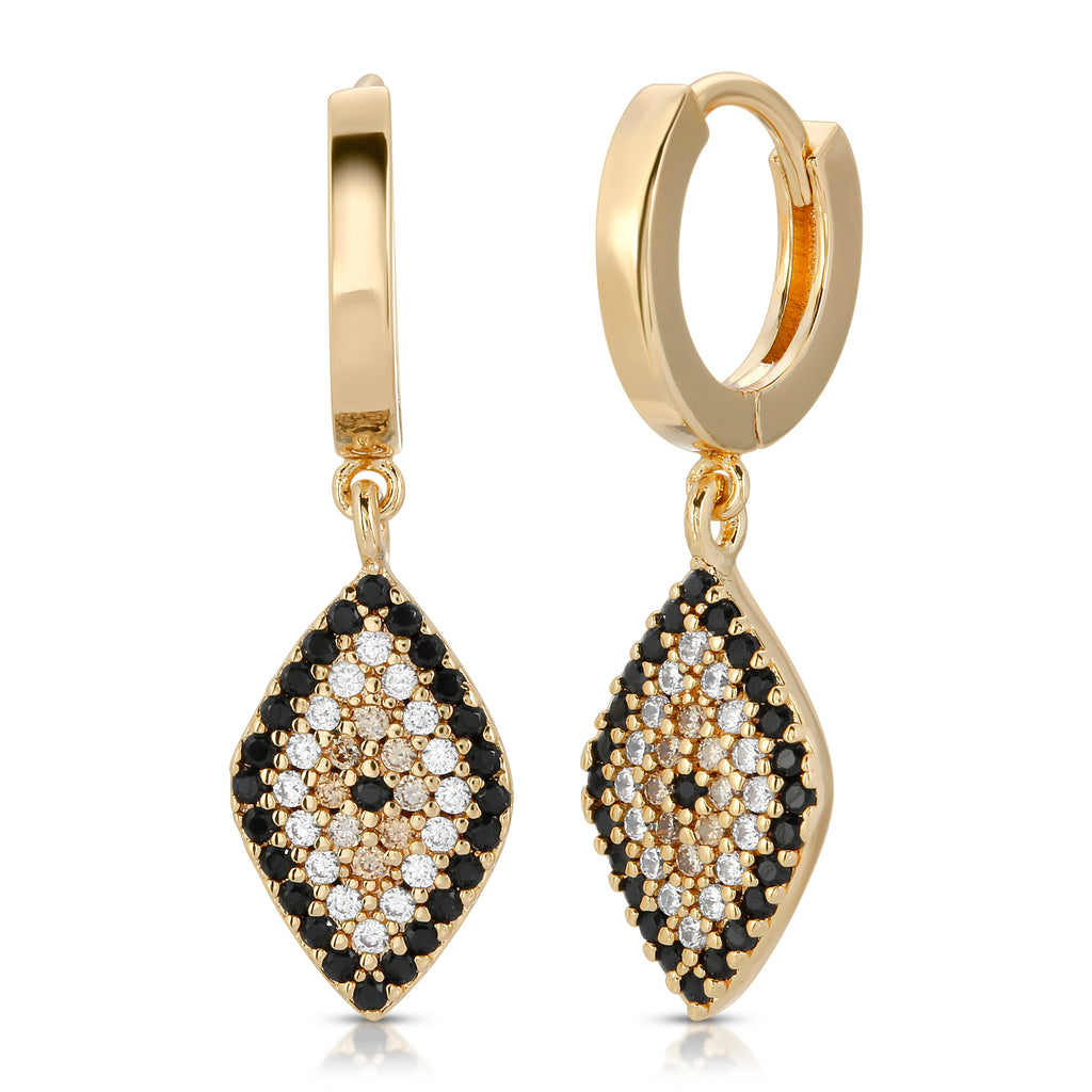 Cleo Gold Evil Eye Earrings
