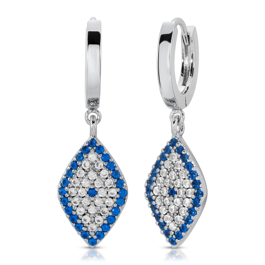Cleo Silver- Evil Eye Earrings