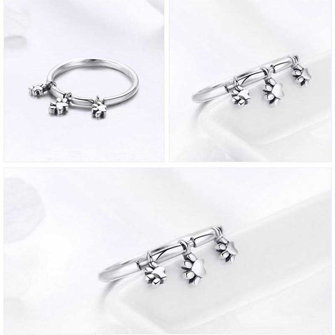 Dainty 925  sterling Silver Paw Ring – For the Love of Paws