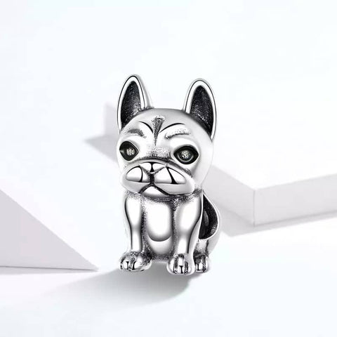 Frenchie 925 Sterling Silver Charm Bead