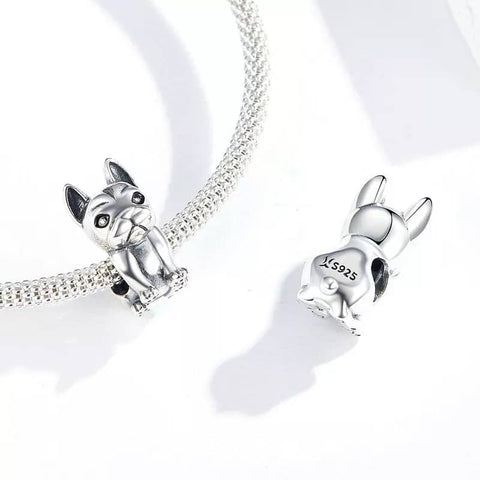 Image of Frenchie 925 Sterling Silver Charm Bead