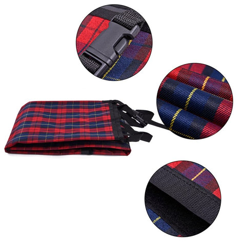 Backseat Hammock Dog Car Seat Cover in Plaid