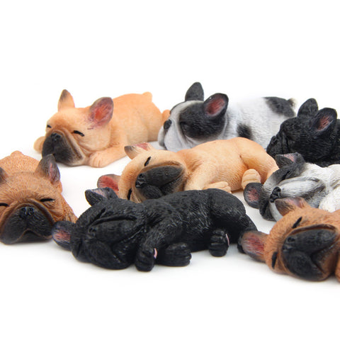 Sleeping Frenchie Fridge Magnet