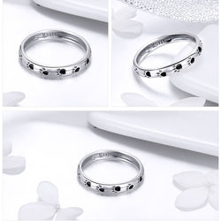 Paw Prints 925 Sterling Silver Ring