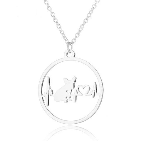 Image of Heartbeat Frenchie Necklace