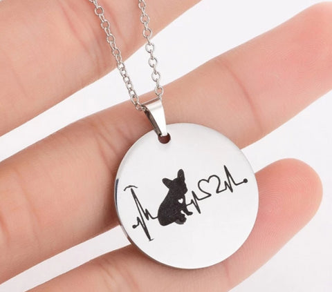 Heartbeat Frenchie Necklace