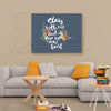 """Stay With Me"" Wall Canvas"