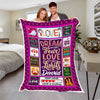 """Dream Without Fear"" Customized Blanket For Couple"