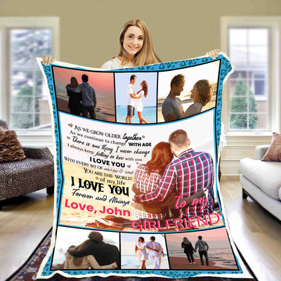 """To My Girlfriend Forever And Always ""- Personalized Blanket"