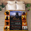 """To My Husband Always Remember That I love You"" Customized Blanket"