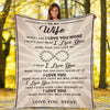 """I Love You More Than You Will Ever Know"" Customized Blanket For Wife"