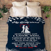 """To My Girlfriend Never Forget That I Love You""-Personalized Blanket"