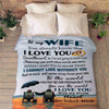 """To My Wife- I Cannot Live Without You"" Customized Blanket For Wife"