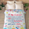 """You're The Sunshine To Light My Day""-Personalized Blanket"