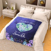 Heart Personalized Blanket For Couple