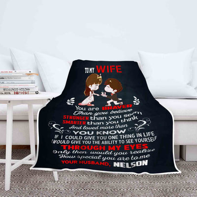 To My Wife You Are Special To Me Customized Blanket