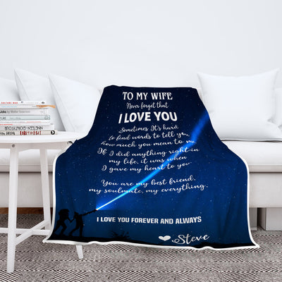 """To My Wife - I Gave My Heart To You"" Customized Blanket For Wife"