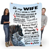 """I'm So In Love With Every Little Thing About You"" Customized Blanket For Wife"