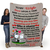 """To My Wife God Knew My Heart Needed You"" Custom Blanket"