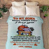 """Never Forget That I Love You"" Personalized Blanket For Couple"