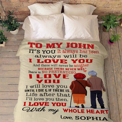 """I Will Love You Until I Die"" Customized Blanket For Couple"