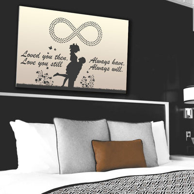 Couples Canvas Wall Art - Made For Each Other
