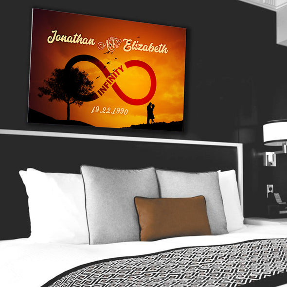 Couple Wall Art - Personalized Canvas