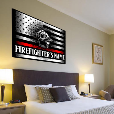 Customized Firefighter Canvas Art
