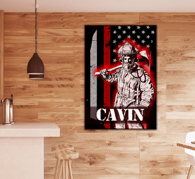 Firefighter Hero Personalized Home Decor