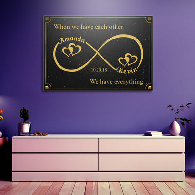 Custom Infinity Canvas Wall Art - Exclusively Made