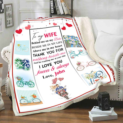 To My Wife Thank you For Making Beside Me Customized Blanket