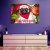 Customized Pug Wall Art