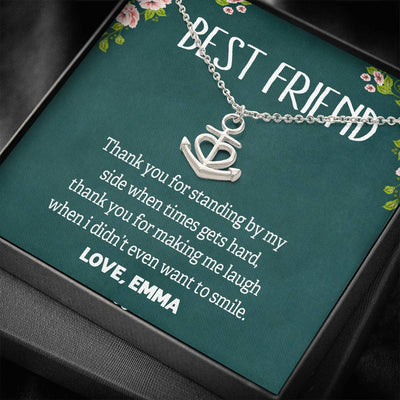 Thank You For Standing By My Side, Necklace For Best Friend