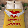 Hand in Hand Forever Customized Blanket with Names and Date
