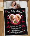 To My Mom - Personalized Photo Blanket