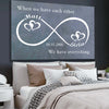 Custom Each Other Infinity Canvas